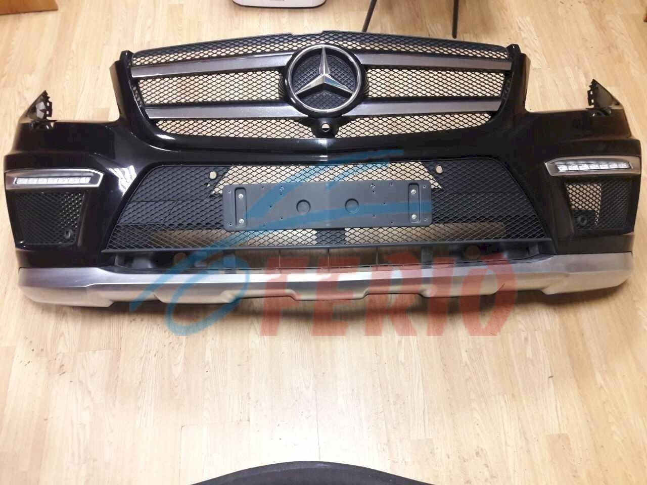 Бампер в сборе Mercedes X166 GL 63AMG. 100% оригинал. Родной черный цвет.